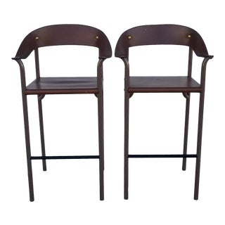 1980s Vintage Italian Bar Stools- a Pair For Sale