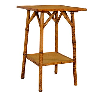 19th C French Bamboo Side Table For Sale