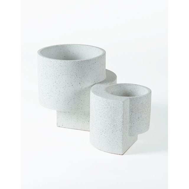 Not Yet Made - Made To Order Tortuga Platform Medium White Planter For Sale - Image 5 of 7