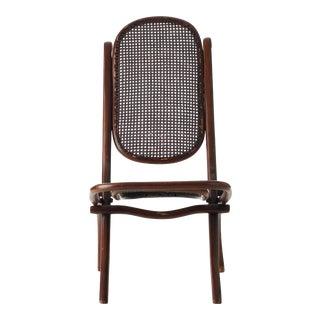 Antique Folding Deck Chair by Michael Thonet For Sale