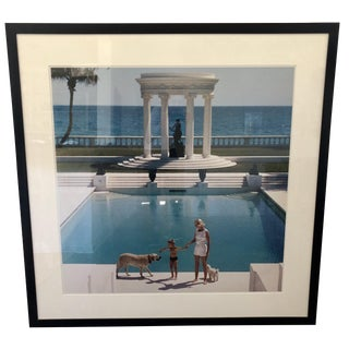 "1950s Vintage Slim Aarons ""Nice Pool"" Photographic Print For Sale"