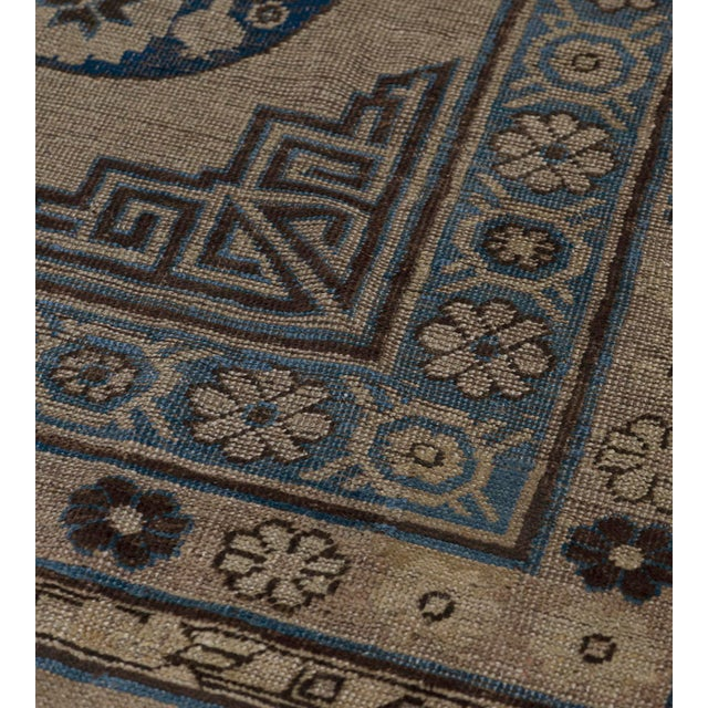 Traditional Traditional Antique Handwoven Wool Persian Khotan Runner For Sale - Image 3 of 6