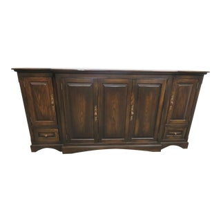 French Country Oak Media Sideboard For Sale