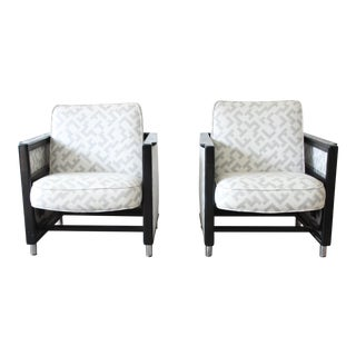 Edward Wormley for Dunbar Rocking Lounge Chairs - a Pair For Sale