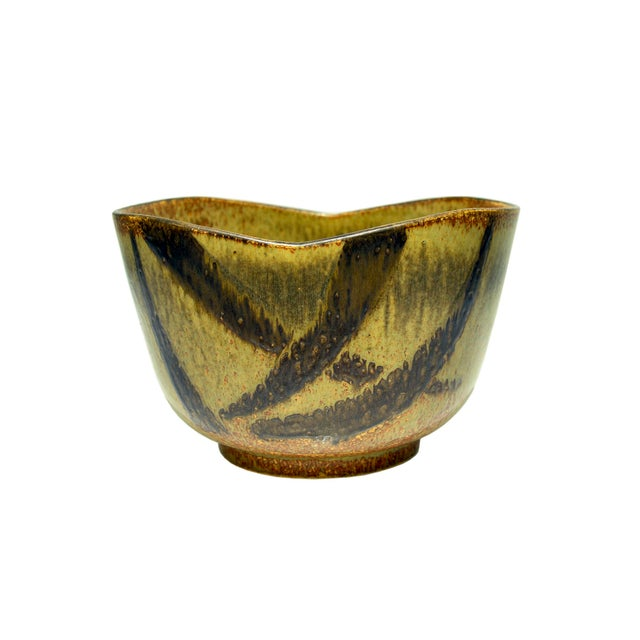 Contemporary Stoneware Bowl by Eva Staehr-Nielsen for Saxbo For Sale - Image 3 of 3