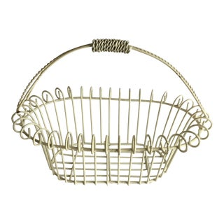 Painted Iron Basket For Sale