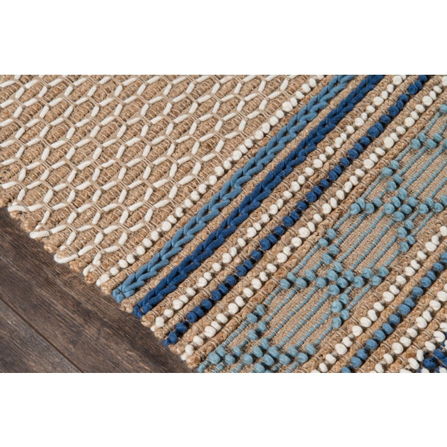 Esme Blue Hand Woven Area Rug 8' X 10' For Sale - Image 4 of 8