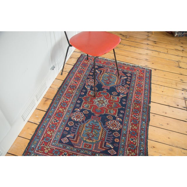 """Distressed Heriz Rug - 3' X 4'6"""" For Sale In New York - Image 6 of 8"""