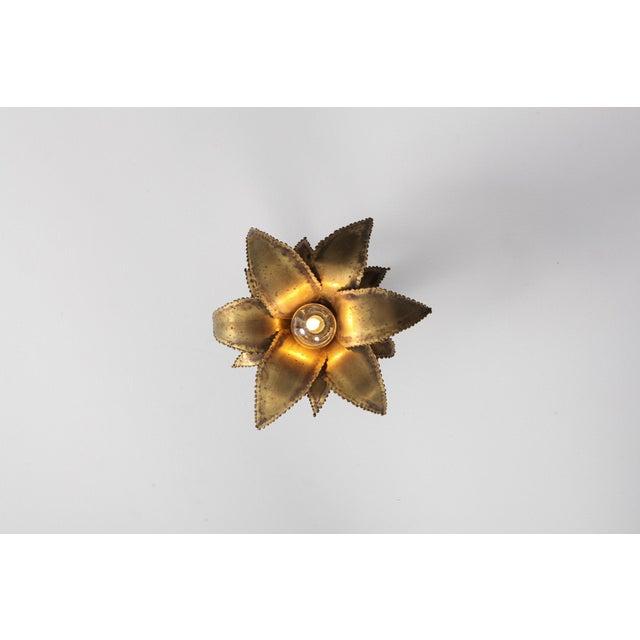 Maison Jansen Regency Brass Palm Sconce For Sale - Image 6 of 8