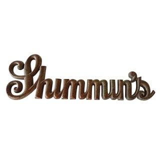 Bronze Shop Sign - Shimmin's