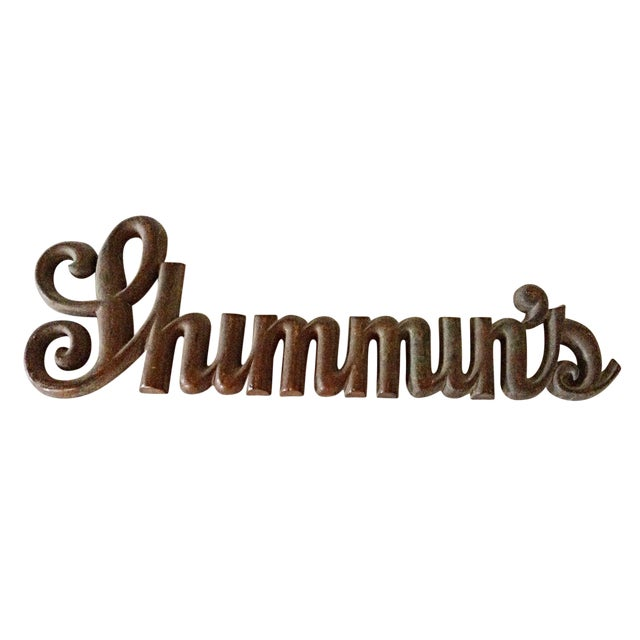 Bronze Shop Sign - Shimmin's For Sale