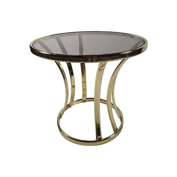 Brass and Glass Side Table - Image 1 of 4