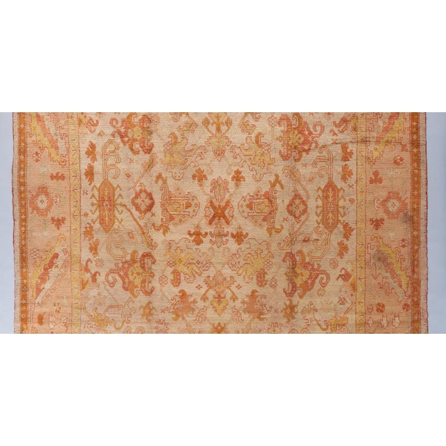 Traditional Beige Ground Oushack Carpet For Sale - Image 3 of 6