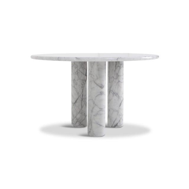 Mario Bellini Mario Bellini Il Colonnata Oval Dining Table in Carrara Marble for Cassina For Sale - Image 4 of 12