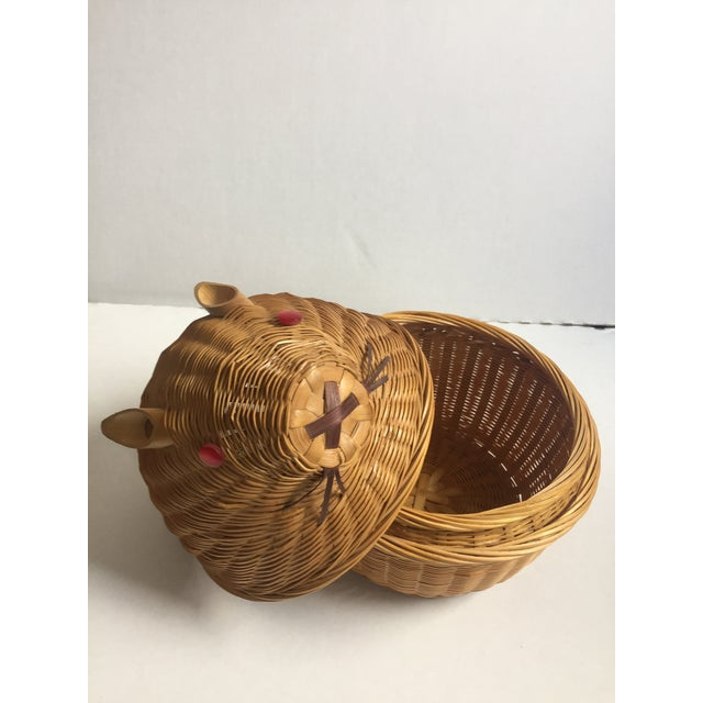 Vintage Wicker Rabbit Basket - Image 5 of 6