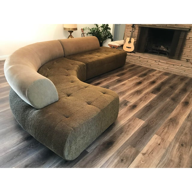 1990s Sculptural Post Modern Curved Italian Sectional For Sale - Image 9 of 11