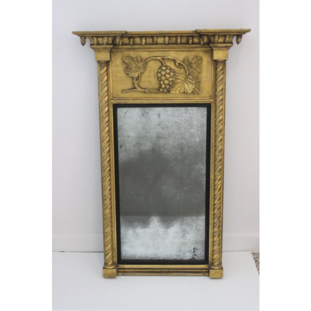 Giltwood 1860s Carved Neoclassical Mirror For Sale - Image 12 of 13
