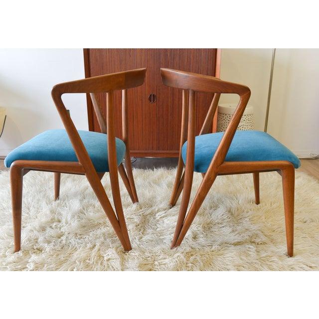 Gio Ponti Vintage Bertha Schaefer/Gio Ponti Chairs - A Pair For Sale - Image 4 of 7
