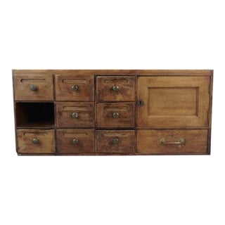 Vintage Wooden Drawer Desk Top Organizer For Sale