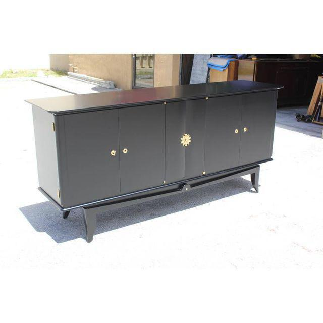 Beautiful Vintage French Art Deco Ebonized Sideboard / Buffet 1940s - Image 4 of 11