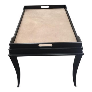 Modern Espresso Tray Top Table For Sale
