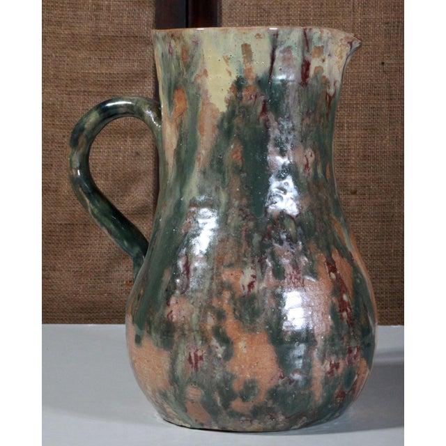 Antique Cole North Carolina Art Pottery Pitcher - Image 5 of 9