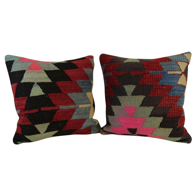 Kilim Pillow Covers - A Pair - Image 1 of 6