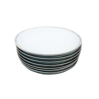 Sophie Villepigue Porcelain Plates for Barneys New York - a Set of 8 For Sale