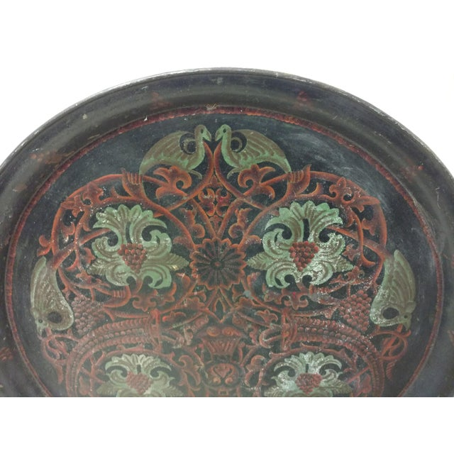 Anglo-Indian Antique Anglo Indian Huge Festival Wedding Tray For Sale - Image 3 of 9