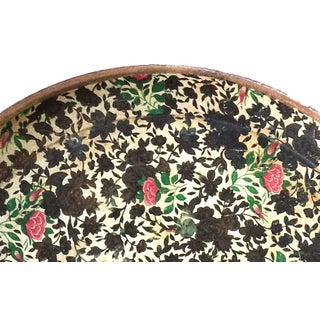 Mid-Century Floral Papier-Mâché Serving Tray Preview