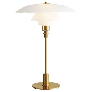 Poul Henningsen Brass and Glass Ph 3 1/2 -2 1/2 Table Lamp for Louis Poulsen For Sale