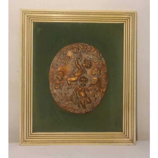 1950s 1950s Vintage Cherub Putti Bas Relief Plaques - a Pair For Sale - Image 5 of 12