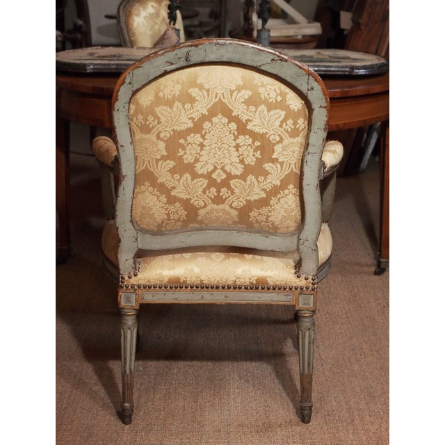 18th Century Set of Six Transition Armchairs Stamped F.Geny For Sale - Image 9 of 11