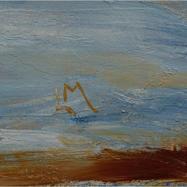 "2010s Laurie MacMillan ""Bay Wading"" Abstract Seascape For Sale - Image 5 of 6"