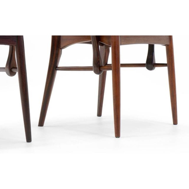 """Pair of Rosewood """"Lis"""" Dining Armchairs by Niels Koefoed for Koefoed Hornslet For Sale - Image 9 of 9"""