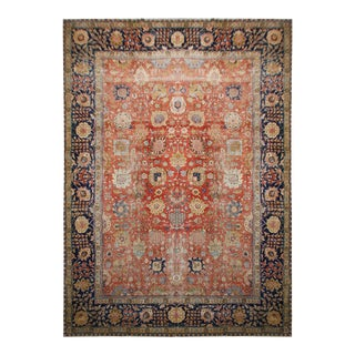 1900s Antique Tabriz Rug For Sale