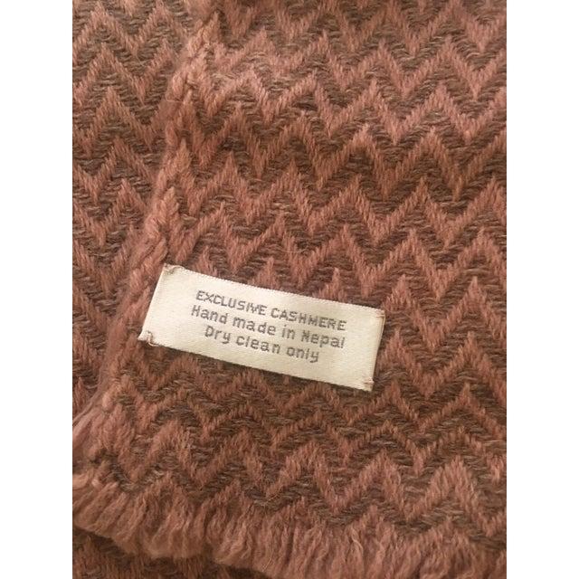 Large Pink Cashmere Blanket - Image 6 of 11