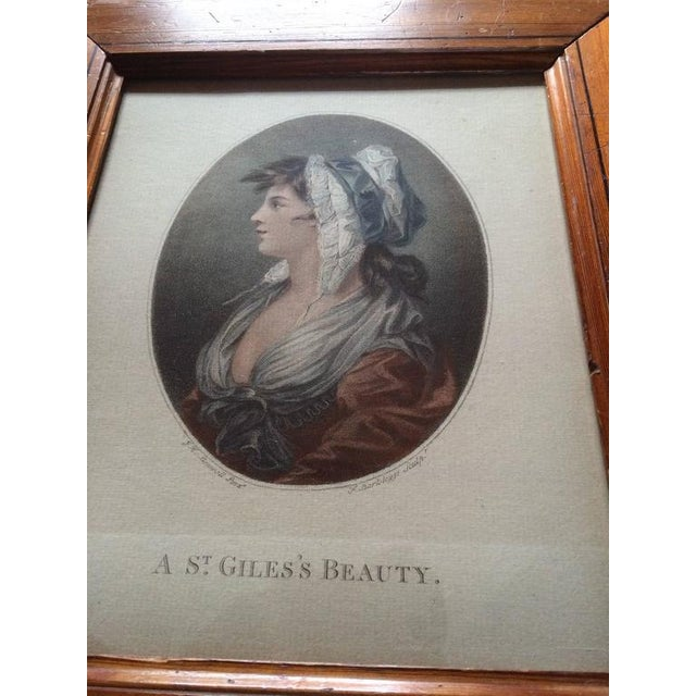 """18th Century Color Engraving """"A St. Giles's Beauty"""" For Sale - Image 4 of 8"""