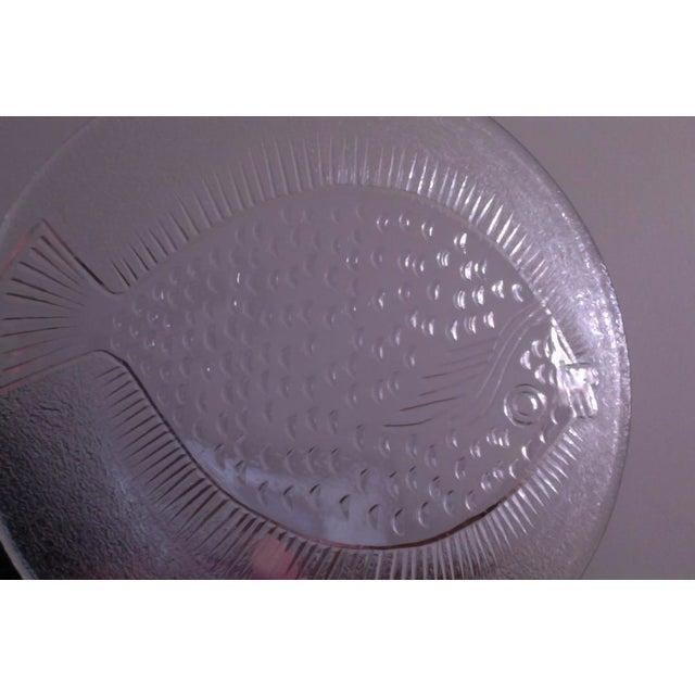 Vintage Danish Modern Glass Fish Platter For Sale In New York - Image 6 of 6