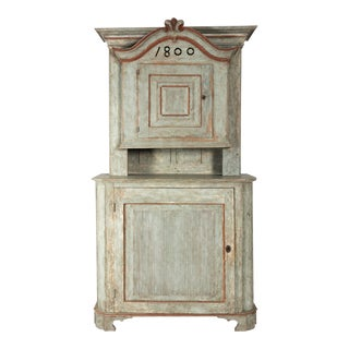 19th Century Swedish Painted Cabinet For Sale