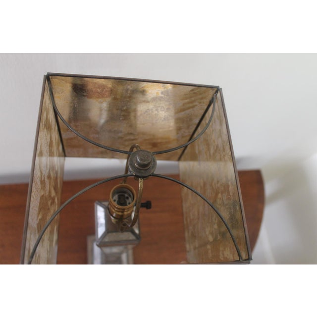 Silver Worlds-Away Mirrored Lamp For Sale - Image 8 of 9