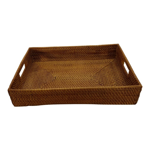 Natural Rattan Tray For Sale