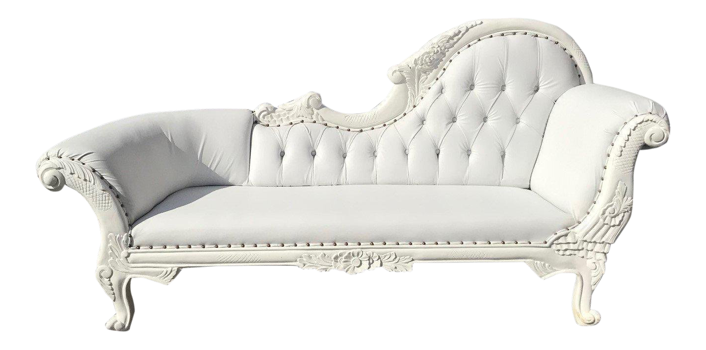 - French Louis XVI Style White Chaise Lounge Chairish