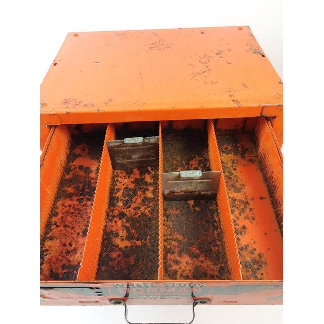 Orange Industrial Dorman Products Bin Drawer Cabinet For Sale - Image 8 of 10
