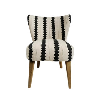 Vintage Striped Mud Cloth Accent Chair For Sale