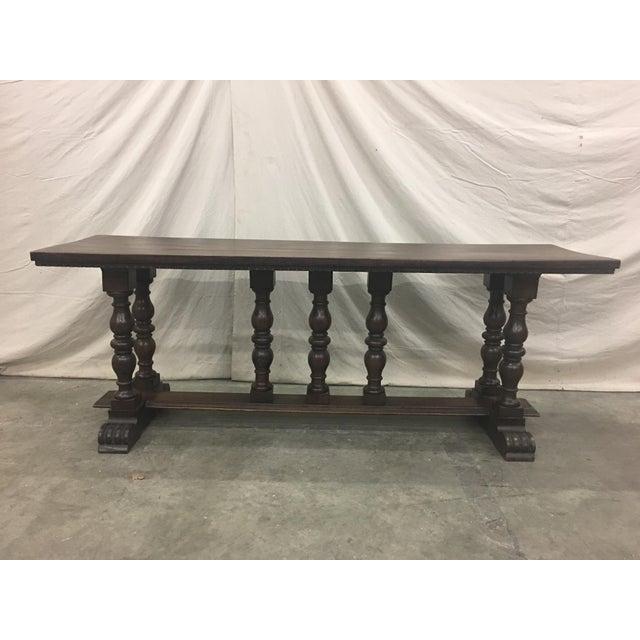 18th C Italian Walnut Console Table Sofa Table For Sale - Image 10 of 11