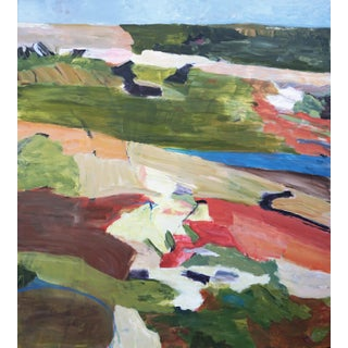 """Laurie MacMillan """"Getaway"""" Abstract Landscape Painting Preview"""
