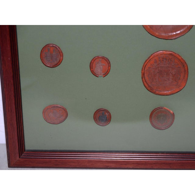 Fine Collection of 19th Century Wax Seals Each seal is beautifully detailed with figures, animals, coat of arms, names of...