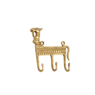 Bohemian Brass Camel Wall Hooks For Sale