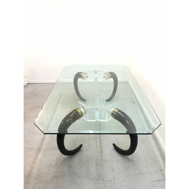 1970s Mid-Century Modern Karl Springer Style Faux Elephant Tusk Dining Table For Sale In Los Angeles - Image 6 of 9